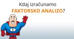 Faktorska analiza