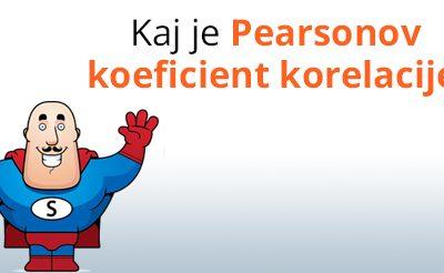 Pearsonov koeficient