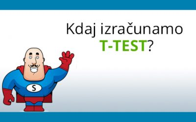 T test – za neodvisne in odvisne vzorce