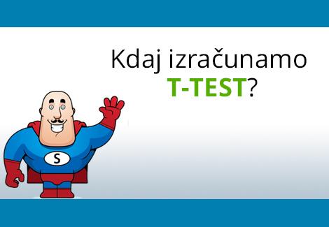T test – za neodvisne in odvisne vzorce